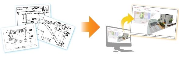 ご自宅の敷地図をもとに3DCAD図面でプランニング